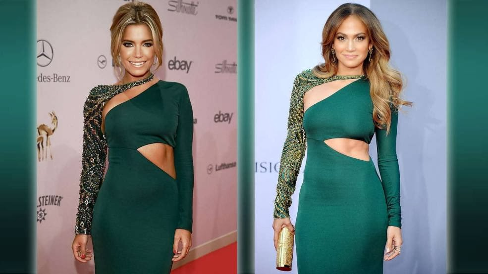 Who wore it best? Jennifer Lopez or Sylvie Van der Vaart.