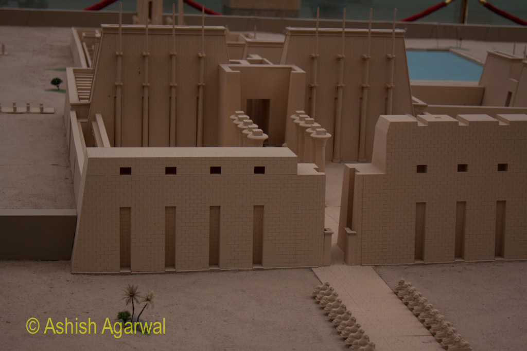 Depiction of the temple complex at the small museum before you enter the Karnak temple