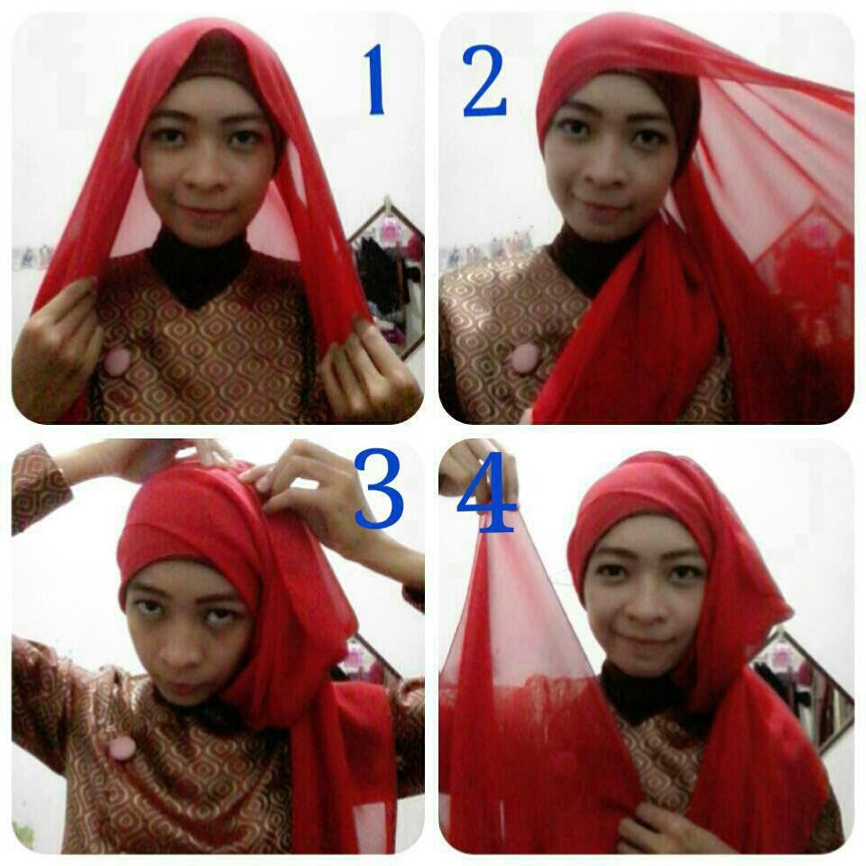 Tutorial Hijab Pashmina Siffon Simple Is Beautiful