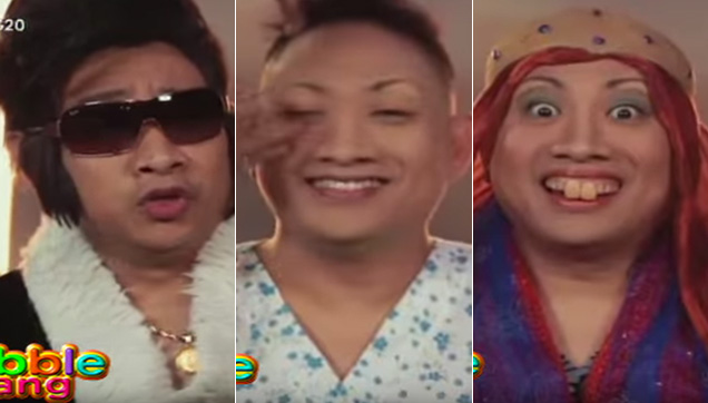 Bitoy transforming into his iconic funny characters on Bubble Gang.