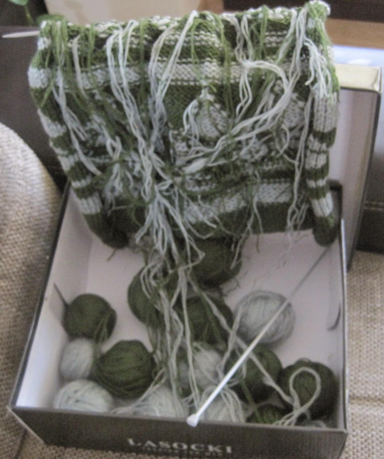 jak robić na drutach wieloma nitkami