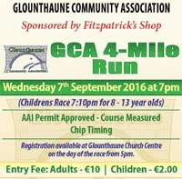 Glounthaune 4 mile race...Wed 7th Sept