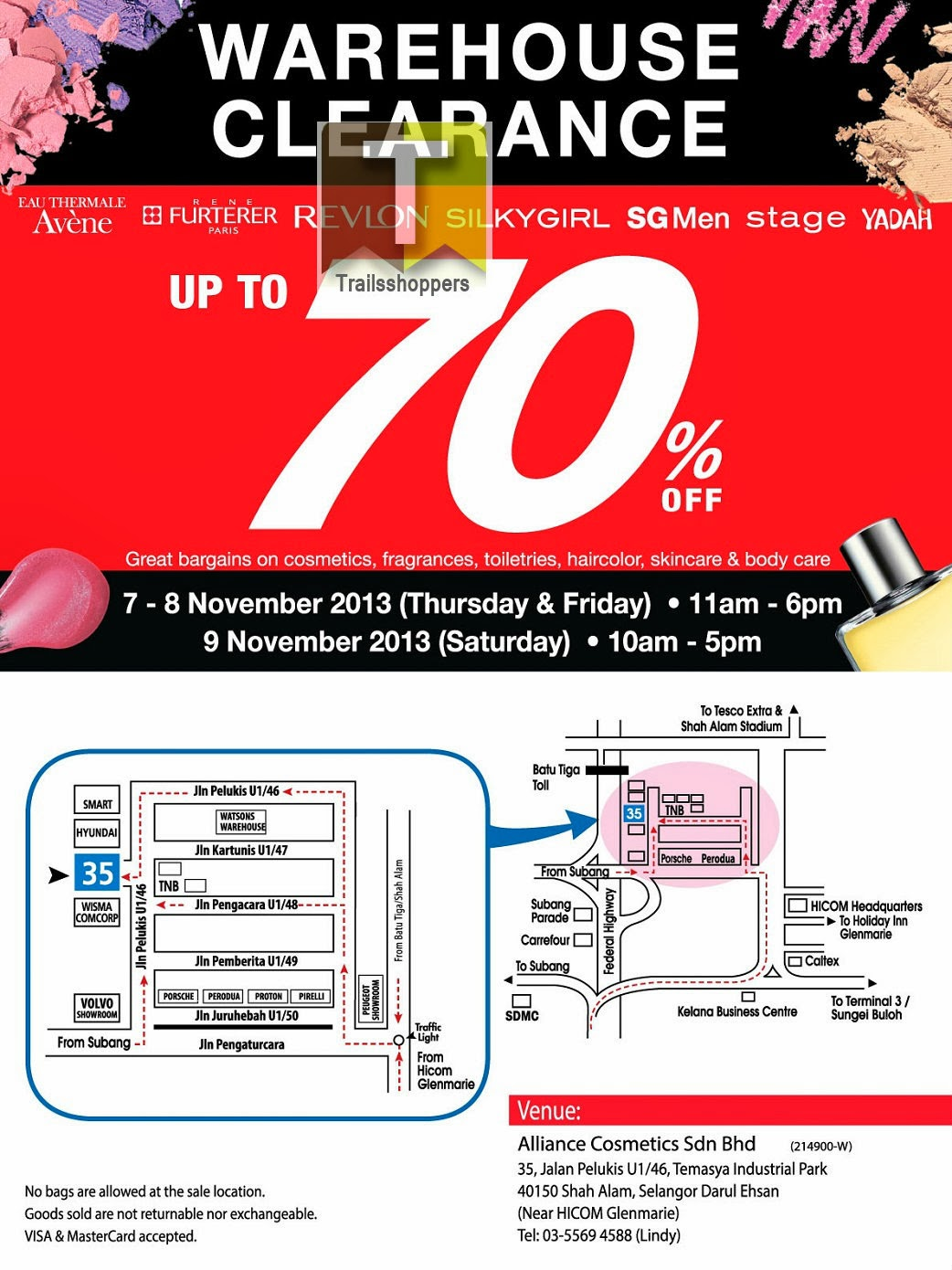 Alliance Cosmetics Warehouse Clearance 2013