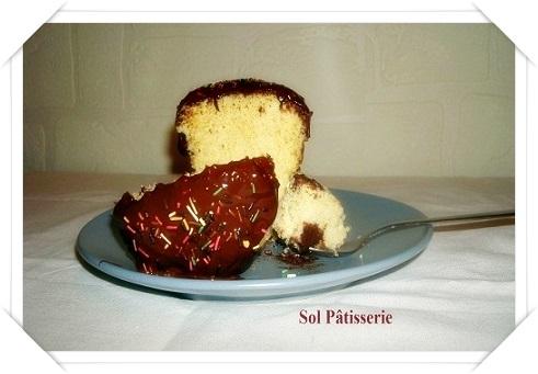 Gâteau vanillé dans la tasse
