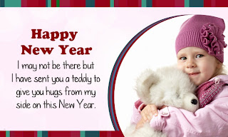 Best New Year 2014 Greetings With Cute Baby Teddy