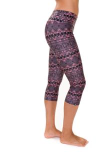 Style Athletics Onzie Activewear Capri Pant Pink Black Skulls