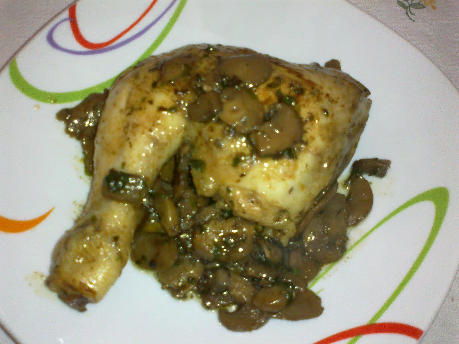 La cucina di v cosce di pollo con funghi champignon - Come cucinare champignon ...