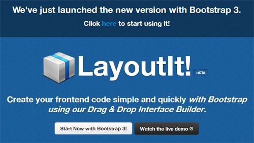LayoutIt! – Build HTML Bootstrap Layouts With Ease