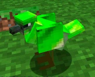 Mo' Creatures pájaro verde Minecraft mod