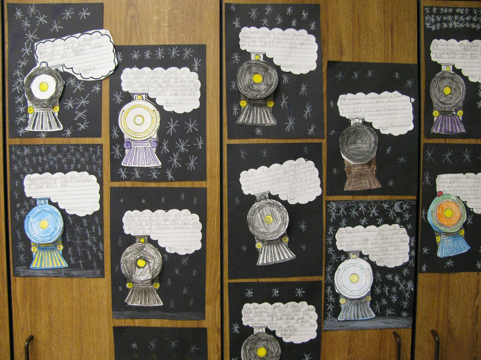 The students wrote about their favorite magical part of the polar