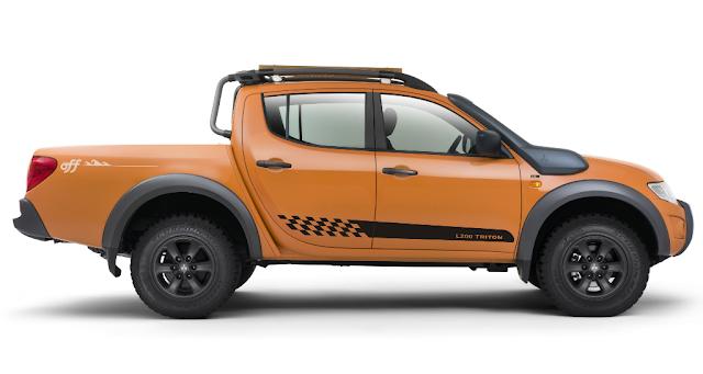 Faixa lateral Pick-up l200 triton peças acessórios x11auto LA