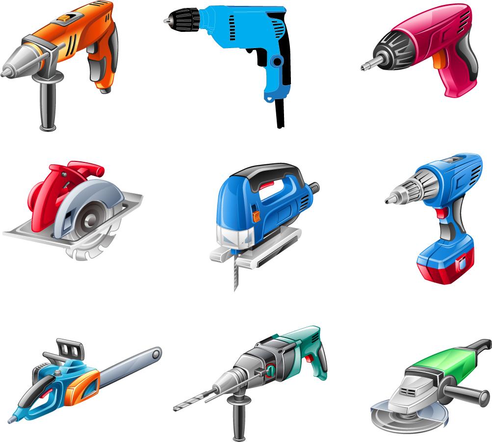 精密な電動工具のクリップアート Electric Tools Vector イラスト素材