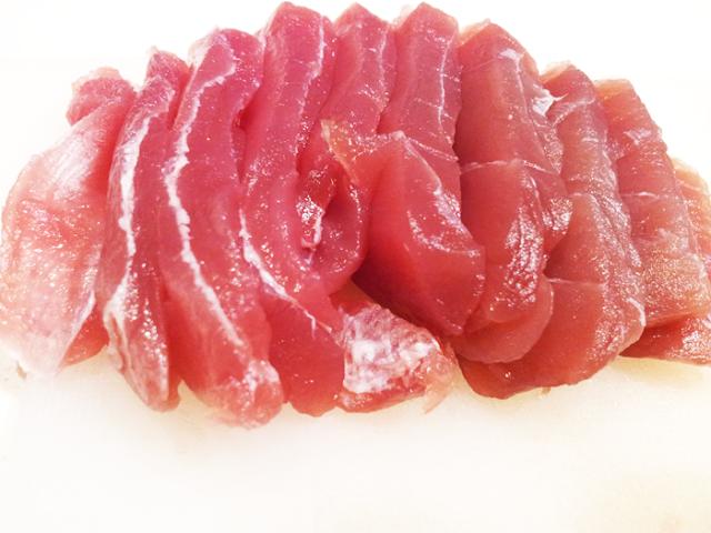 חיתוך דג טונה