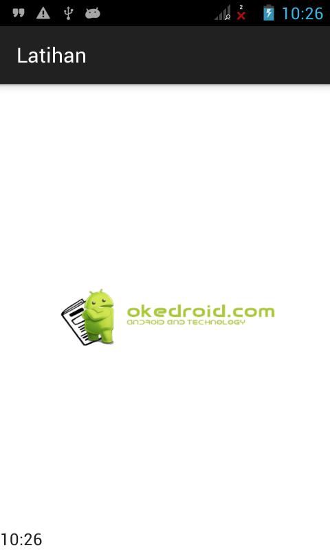 Title Bar belum dihilangkan di Aplikasi Android