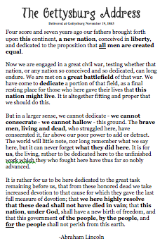 use of antithesis in the gettysburg address