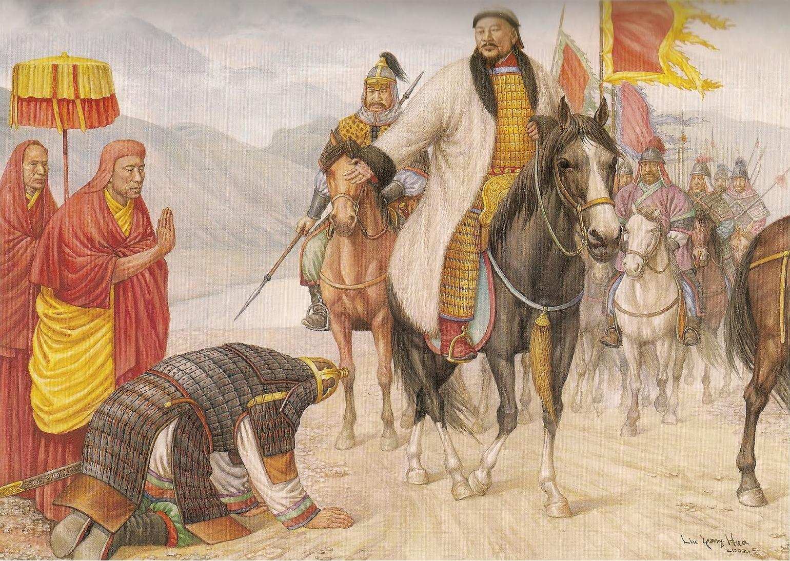 who is genghis khan before his fathers death Genghis khan, genghis also spelled  after a leader who was defeated by his father,  wife to whom yesügei had betrothed him just before his death.
