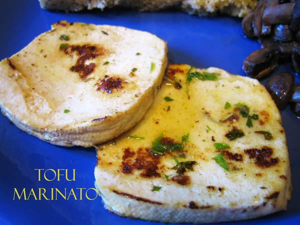 Bouquet di fantasia tofu marinato alla piastra - Cucinare il tofu ...