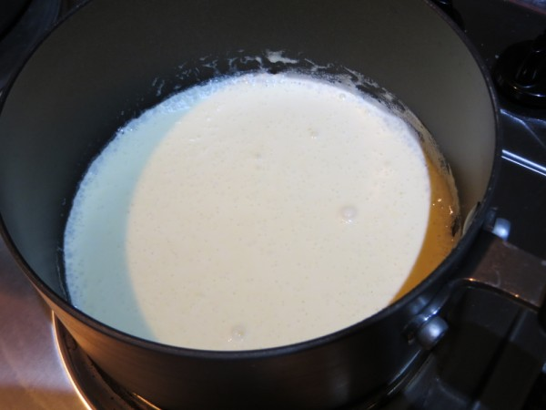 boiling double cream