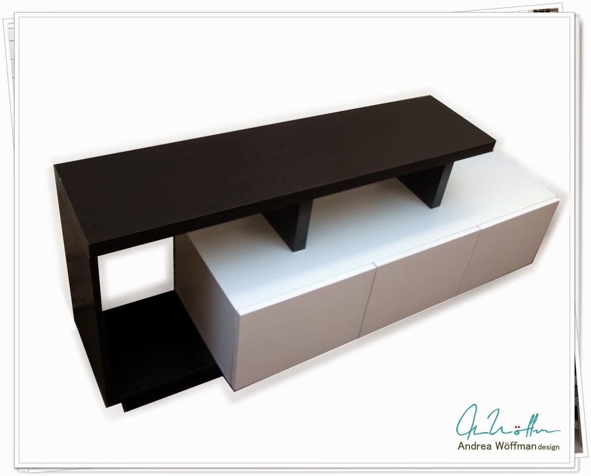 Muebles para televisor en melamina for Diseno muebles melamina