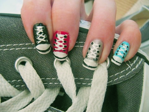 Lumas Nail Art 4 Interesting Nail Art Designs With Shoelace