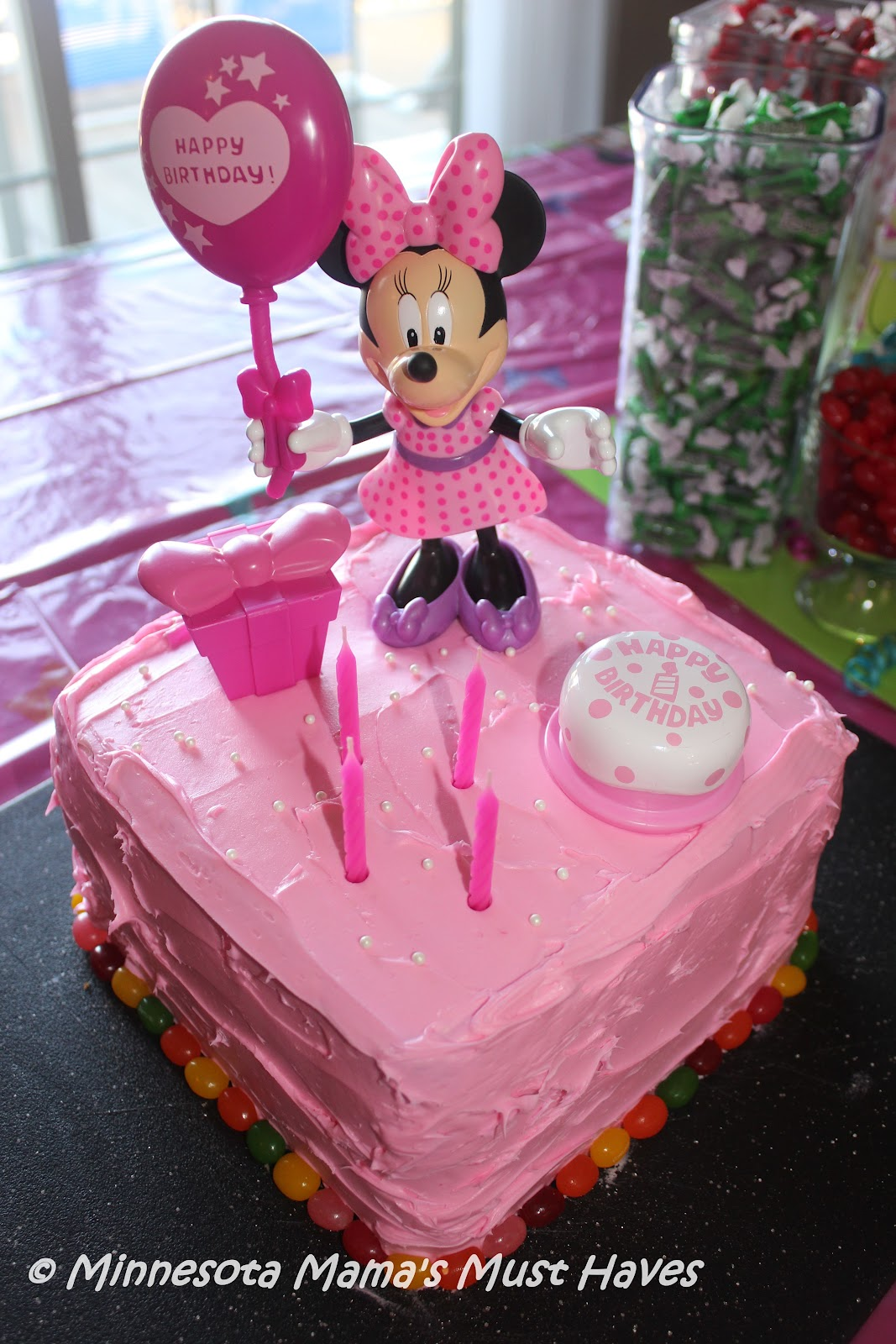 minnie mouse birthday party!! danika is now a whopping 4 years old