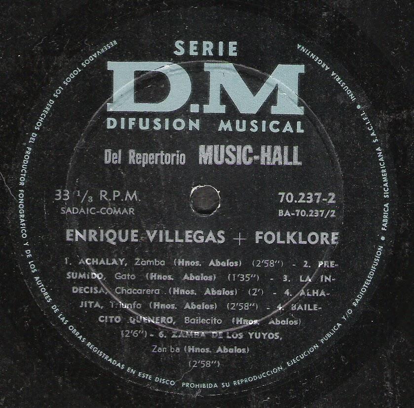 Enrique Villegas - Folklore (1952)