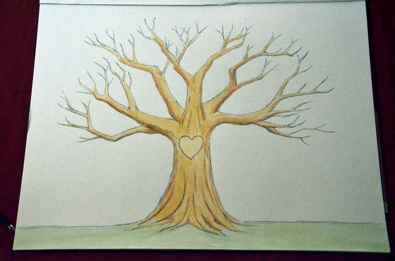 Gallery For gt Easy Tree Drawings Without Leaves