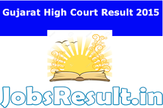 Gujarat High Court Result 2015