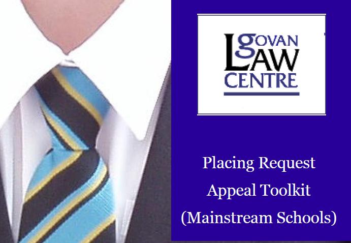 School Placing Request Appeals Toolkit (Mainstream Schools)