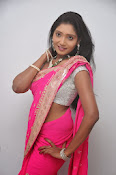 Actress Nisha Latest Photos in Pink saree-thumbnail-16