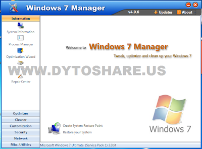 2 Windows 7 Manager 4.0.6
