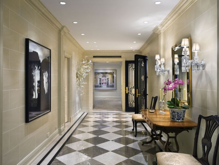 Luxury Apartment Foyer : New home interior design robert a m stern apartment on