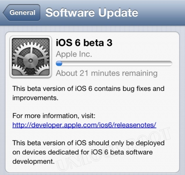 Download iOS 6 beta 3 links