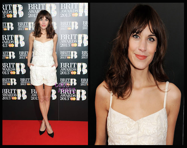 a filha do chefe Alexa Chung Valentino jumpsuit brit awards 2013