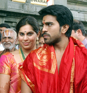 Ram Charan & Upasana at Tirupathi After Wedding Stills
