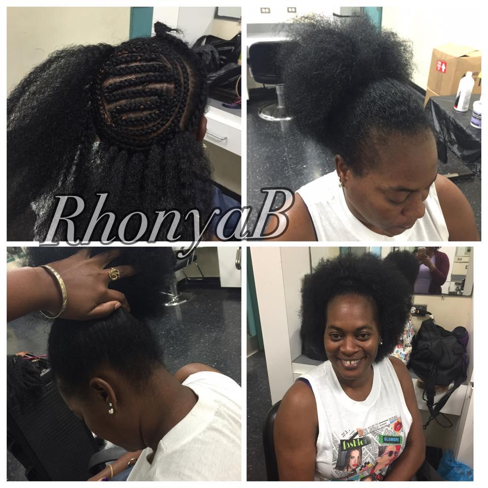 Natural Looking Crochet Hairstyle Jumbo Cornrow Braids