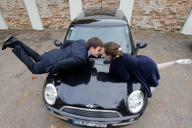 mini cuper automobilis vestuvėms