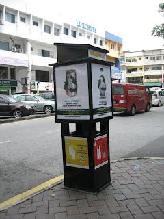 recycle bin at damansara uptown
