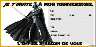 Carte anniversaire gratuite Star wars