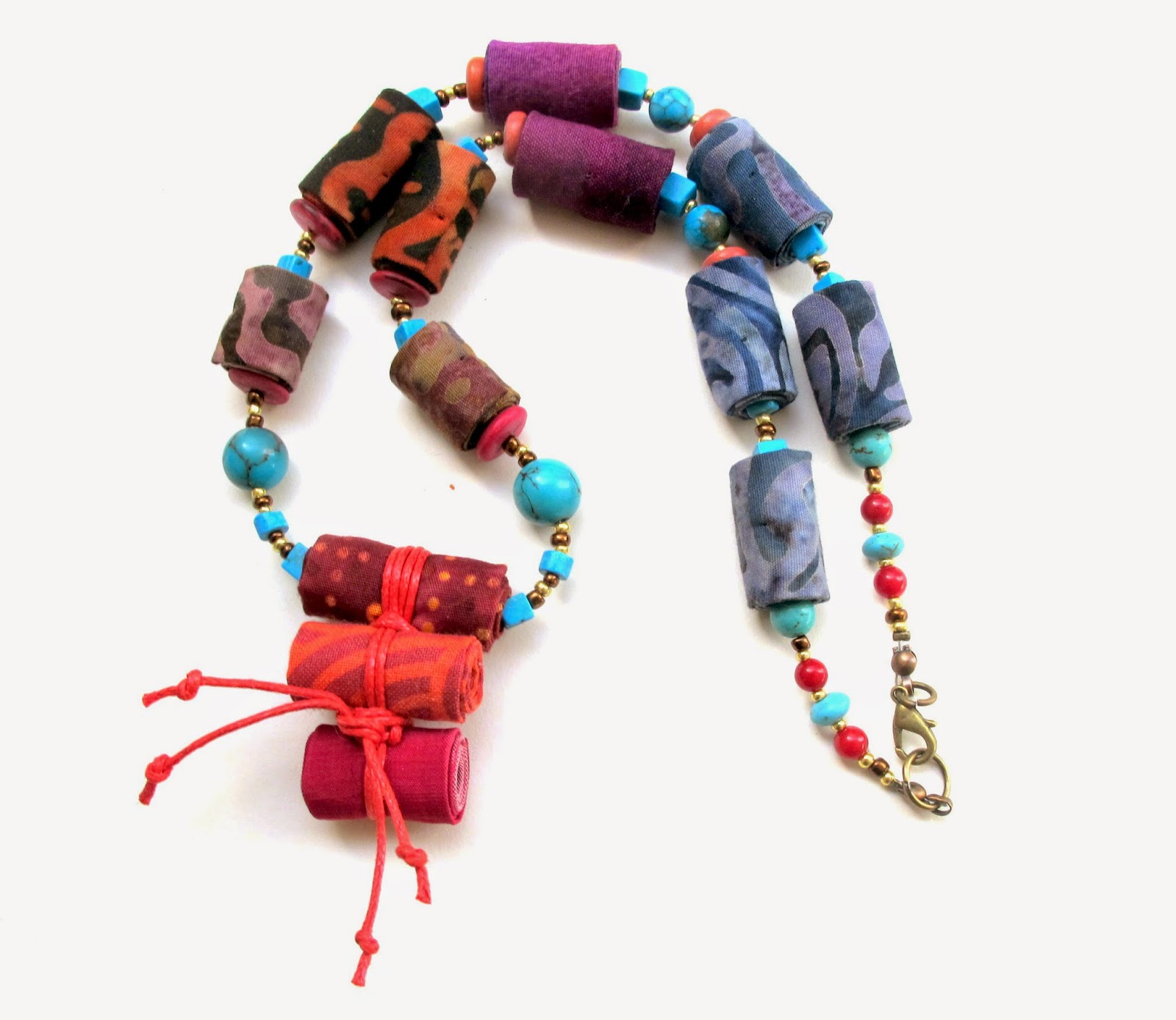 bugels fiber multi beyond products textile recycled bugles threads necklace