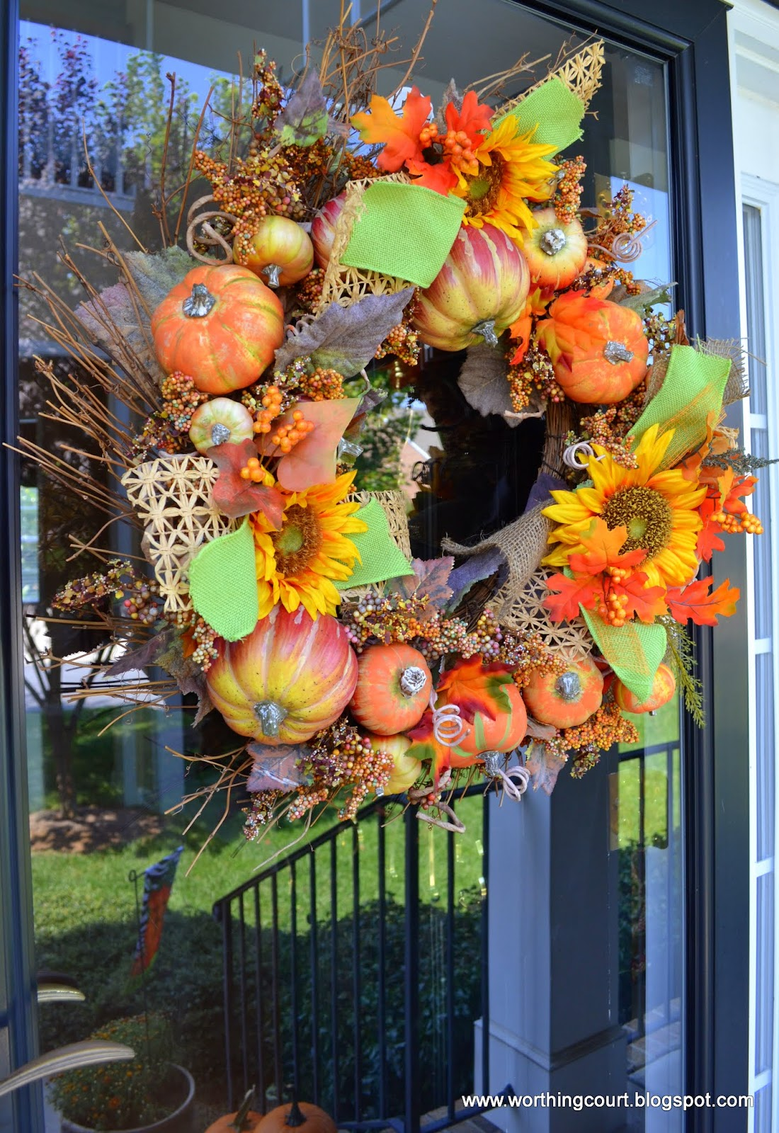 Decorating With Raffia My Fall Decorations On The Front Porch Worthing Court