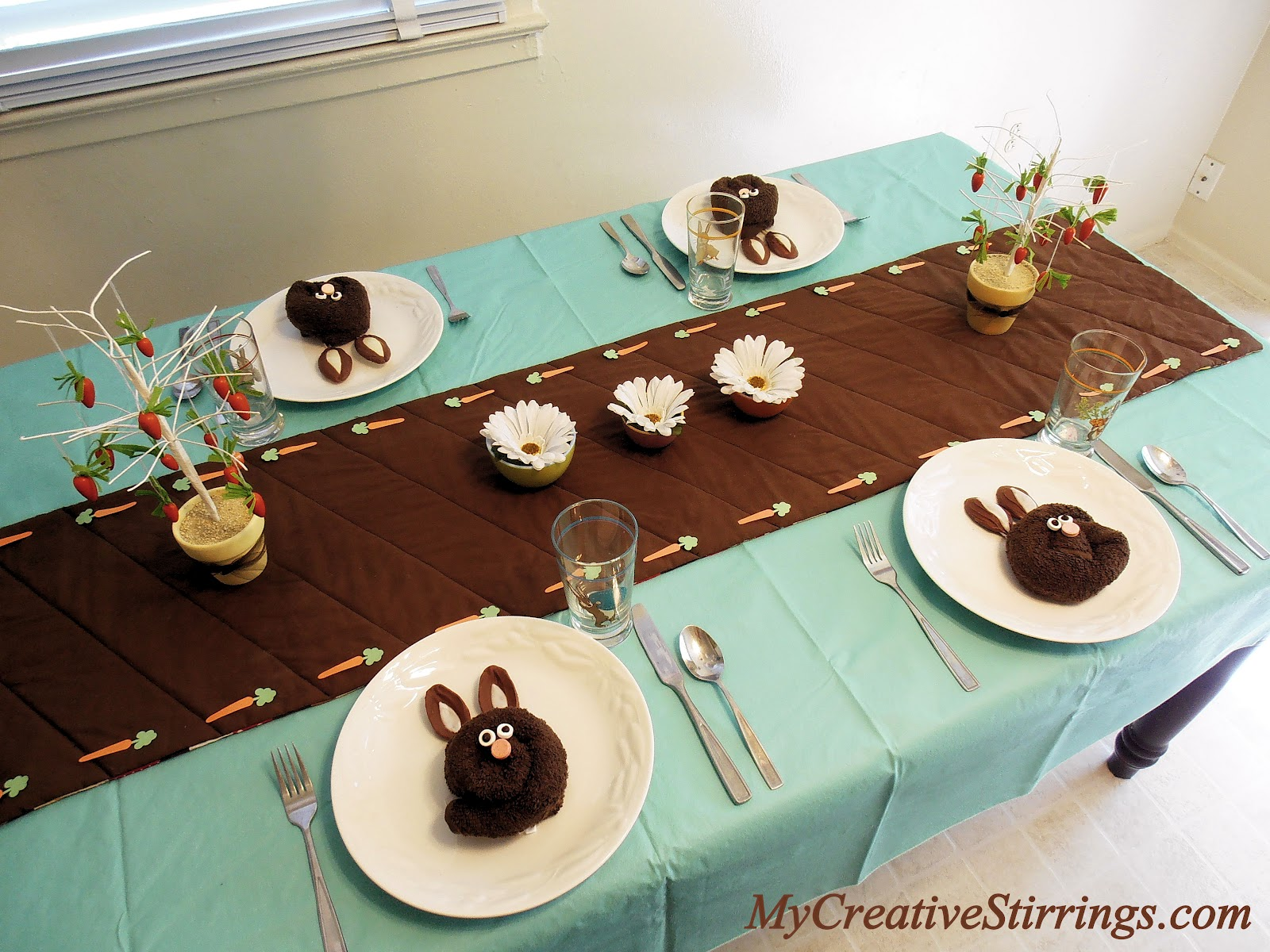 Easter or Spring Table Setting & My Creative Stirrings: Easter or Spring Table Setting