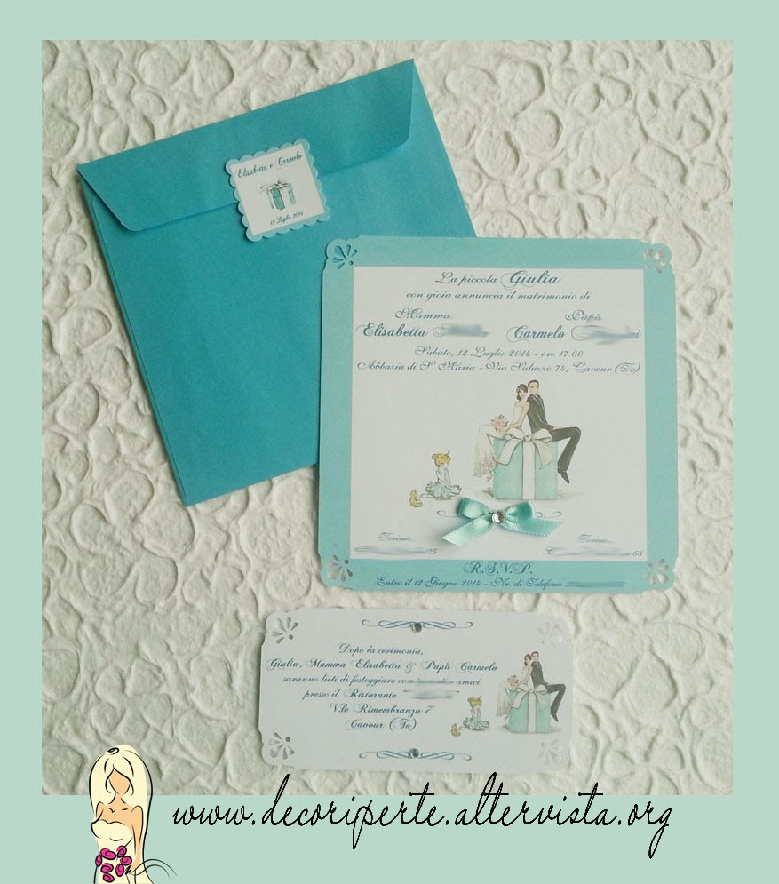 Partecipazioni Matrimonio Azzurro Tiffany : Decori per te esclusivi e personalizzati
