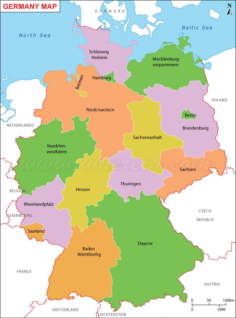 Map of German Province: Map of German Province