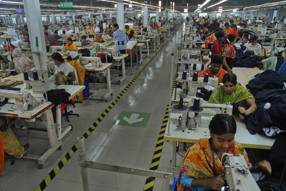 The garment industry employs