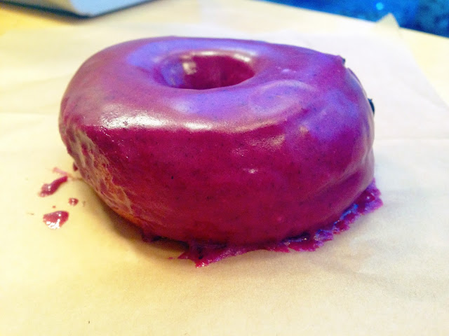 Blueberry Bourbon Basil Doughnut, Blue Star Donuts, Portland, OR | A Hoppy Medium