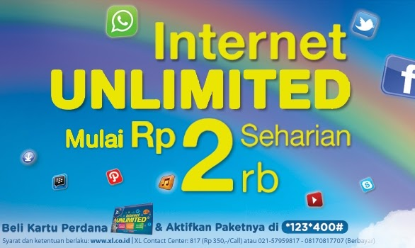 Paket Internet Unlimited Xl 2014