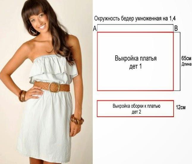 Платье с воланом на плечах для девочки сшить своими руками