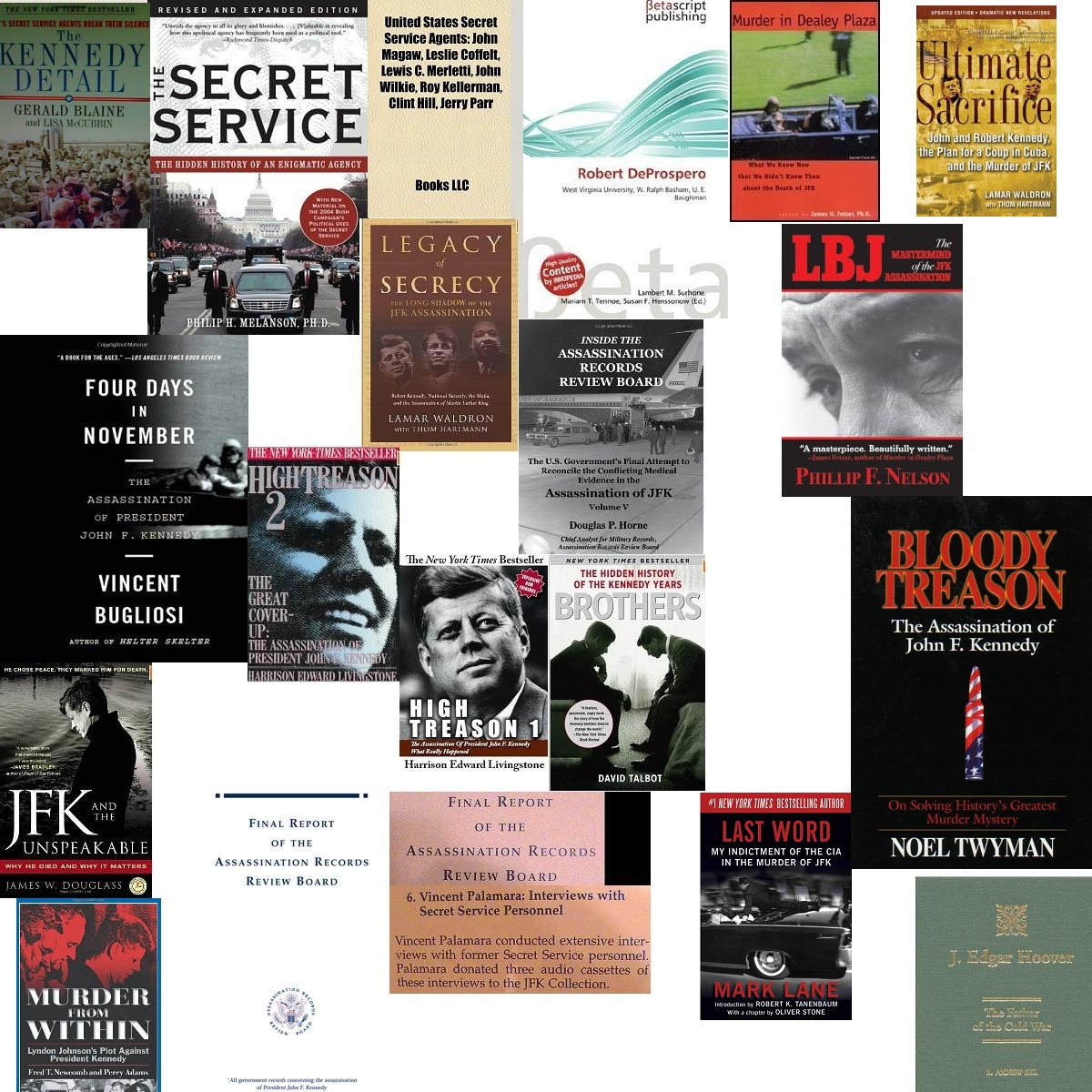 JUST SOME OF THE SECRET SERVICE/ RELATED BOOKS I AM IN