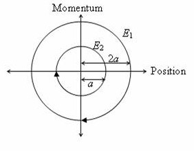 Physicsplus iit jee 2011 paragraph type multiple choice single 2 the phase space diagram for simple harmonic motion is a circle centered at the origin in the figure the two circles represent the same oscillator but sciox Choice Image